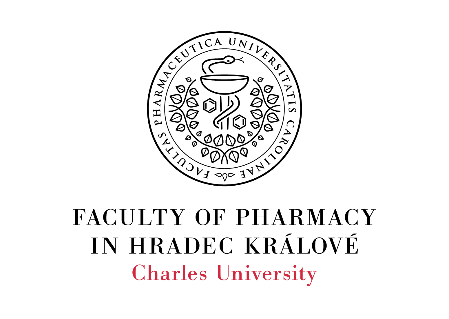 Logotype of the Faculty of Pharmacy, Charles University